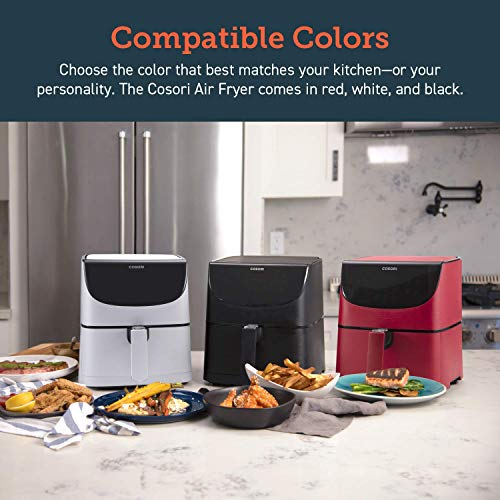 COSORI Air Fryer 5.8QT(Rack &5 Skewers)1700W Electric Hot Air Fryers Oven Oilless Cooker,11 Presets,Preheat&Shake Reminder, LED Touch Digital Screen,Nonstick Basket,2-Year Warranty, Black(100 Recipe)