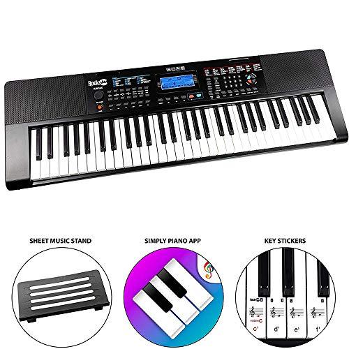 RockJam draagbaar toetsenbord 61 Key Piano met Alexa