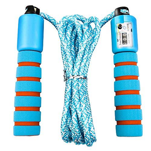 Molbory Springseil mit Digital Zähler, Speed Rope, Komfortablen & Anti-Rutsch Griffen für Training, Boxen Training Fitness für Kinder