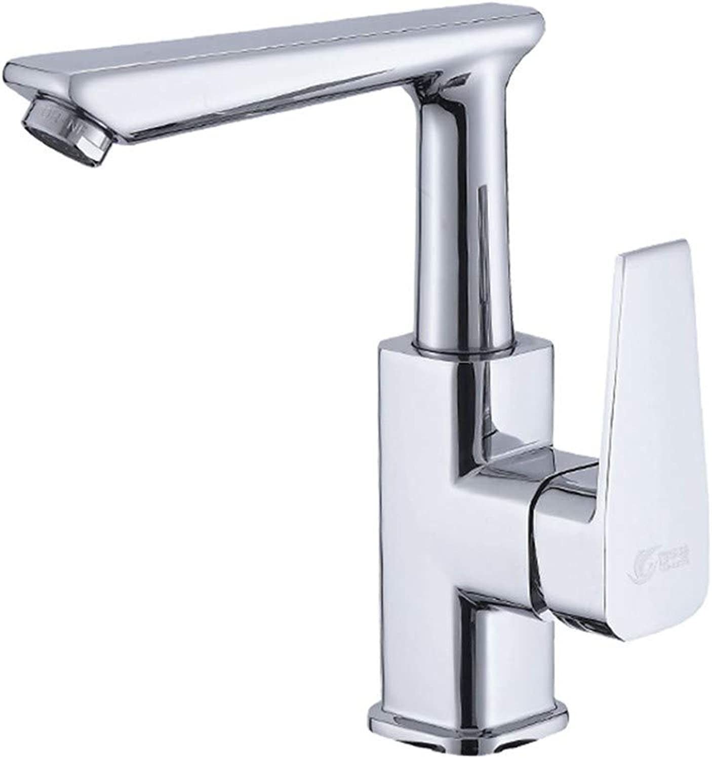 Faucet GJE Hot And Cold Single Handle Monobloc Tap,Bathroom Basin Mixer Tap Brass Fitting Washroom Mixer Tap