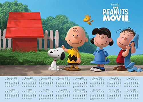 Peanuts Movie 2015-2016 16-Month Calendar Poster: September 2015 through December 2016