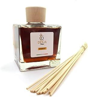 Profumatore di ambiente in vetro da 500ml con ricarica in PET di 500 ml profumazione al Whisky per casa ufficio camera cuc...