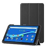 Fintie SlimShell Funda Compatible con Lenovo Tab M7 - Tablet de 7' Súper Delgada y Ligera Carcasa con Función de Soporte, Negro