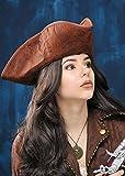 Magic Box Sombrero de Pirata Tricornio marrón Angustiado