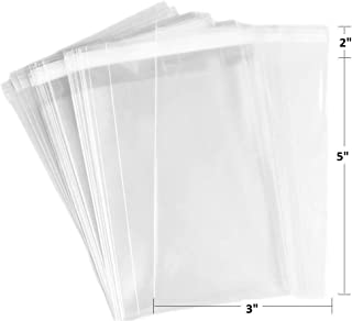 200 Pcs 3x5 Clear Resealable Reusable Cellophane/Cello Cookie, Candy, Favor Bags