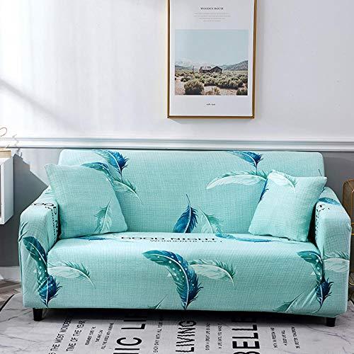 BSZHCT Funda elástica para sofá impresión Floral Poliéster Spandex con Cuerda de Fijación Antideslizante Lavable Antiácaros Funda de sofá Helado Azul 1 Piezas: 90-140cm