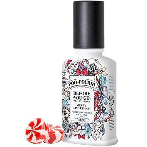 Poo-Pourri Merry Spritzmas Vanilla Peppermint Scent 4 oz Before-You-Go Bathroom Spray