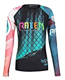 Raven Fightwear Women's The Candy Rash Guard MMA BJJ Black 2X-Large