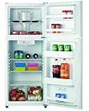 Top Freezer Refrigerator 11.5 Cubic Feet Smad 2 Door Upright Refrigerator Freestanding, Frost-free, Reversible Door, 5 Adjustable Thermostat Control, for Kitchen, Apartment, Office, Dorm