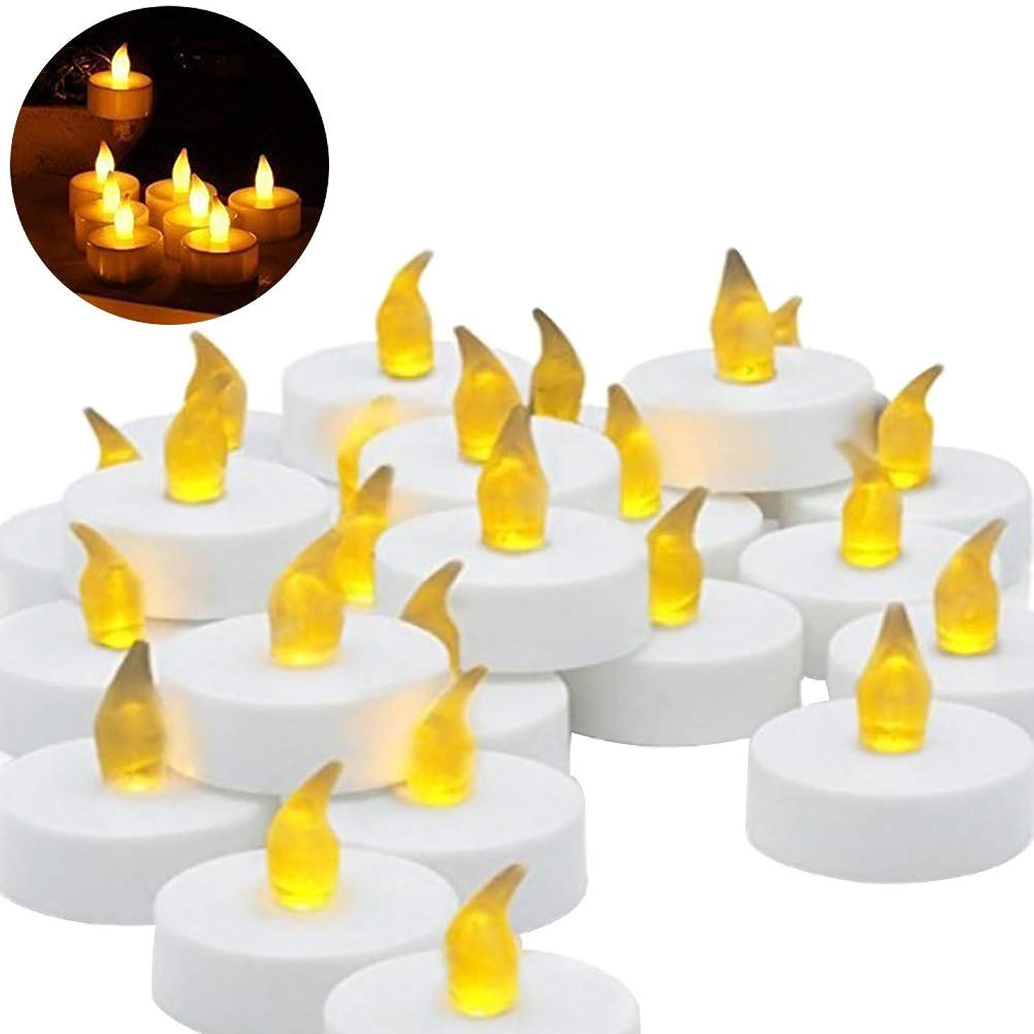 恋人アロング上に築きますLEDMOMO キャンドル LED 誕生日キャンドル プラスチック 無炎 フェスティバル 祭り 祝賀(白)