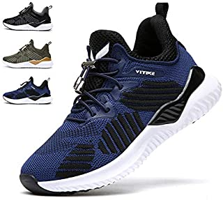 WETIKE Kids Shoes Boys Girls Sneakers Running Tennis Wrestling Athletic Gym Shoes Slip-on Soft Knit Sock Shoes Blue Size: 5.5 Big Kid