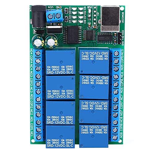 Nitrip Multifunktions-USB-Controller 8-Kanal-UART-Port-Relais SPS-Motor-Fernbedienungsmodul 12VDC