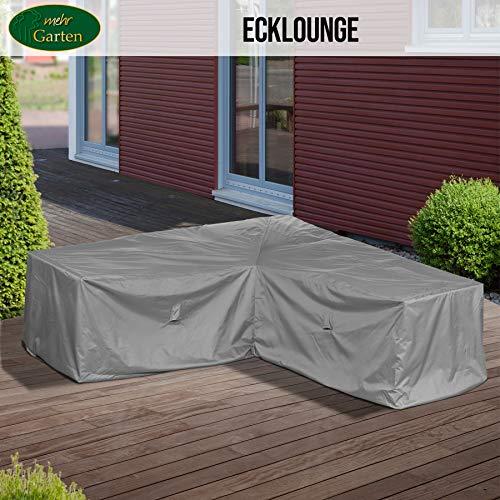 Mehr Garten Gartenmöbel Abdeckung L-Form, Premium Schutzhülle Abdeckplane für Eck-Loungegruppe Loungemöbel wasserdicht 300 x 300 x 80 cm Lichtgrau - 3