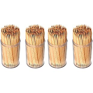 Invero® 600 x Pack Party Wooden Cocktail Sticks