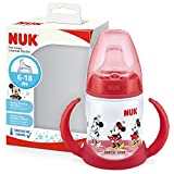 NUK Disney First Choice Learner Cup Sippy Cup | 6-18 Months | Temperature Control | Leak-Proof Silicone Spout | Anti-Colic Vent | BPA-Free | 150ml | Minnie Mouse (Red)