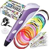 PROXOOM. Lápiz 3D para niños. Bolígrafo 3D con Pantalla LCD, ajuste de velocidad, compatible con filamento PLA y ABS. Pen 3D. INCLUIDO 15 rollos filamento.