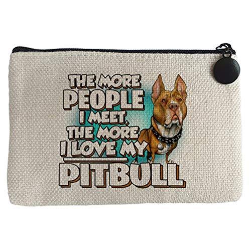Diver Bebé Monedero I love my Pitbull raza perro - Beige, 15 x 10 cm