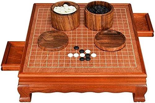 Nwn Go, Schachbrett-Set Erwachsene High-End-Classic-Schublade aus Massivholz (Farbe   C)