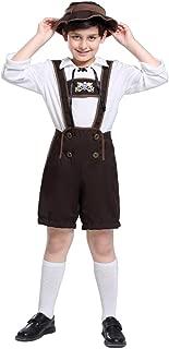 Lederhosen Costume for Kids, Boys' Oktoberfest Role Play, German Dresses for Oktoberfest