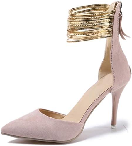 Sandales Pointues Chaussures Simples Stiletto Sandales à Talons Hauts Chaussures femmes-rose-41