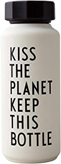 Design Letters 30100105WHITEKISS Thermo/Insulated Bottle, Special Edition (White), Stainless Steel