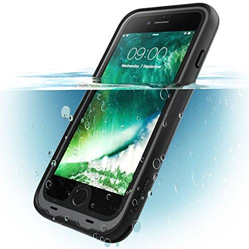 i-Blason Cover iPhone 8 Subacquea, Custodia Impermeabile IP68 [Serie Aegis] Protezione a 360 gradi(Anteriore e Posteriore) WaterProof Case per iPhone 8 2017   iPhone 7 2016, Nero