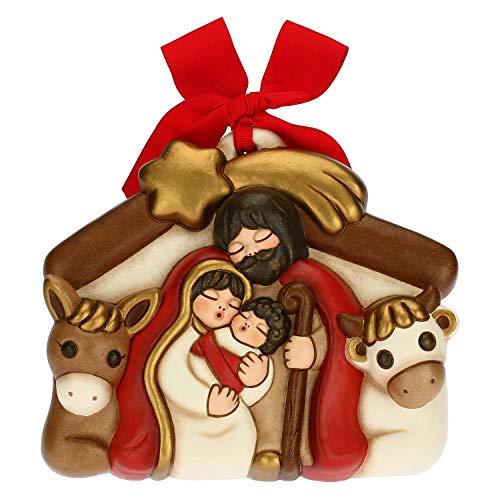 THUN - Formella con Presepe - Decorazioni Natale Casa - Formato Medio - Ceramica - 15,3 x 4 x 13 h cm