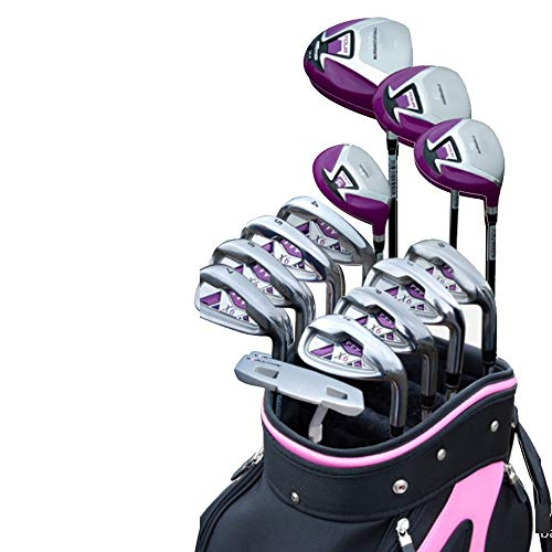 Best Buy! Durable Ladies Golf Putter Golf Practice Club Light Weight Golf Sets Women Golf Clubs Complete Clubs Beginners Sets Exercise Bars,13 PCS Convenient (Color : One Color, Size : Hardcore)