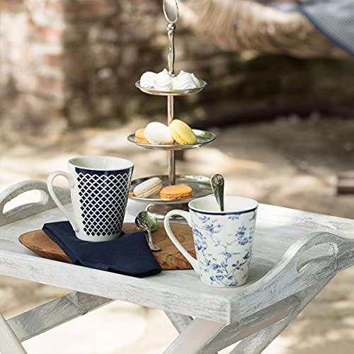 Madame Coco Maena Etoile Tassen 2er Set - Kaffeetasse Teetasse 300 ml Design, hellblau orientalisch hochwertig, tee, mocca cappuccino kaffee ,das ideale Geschenk