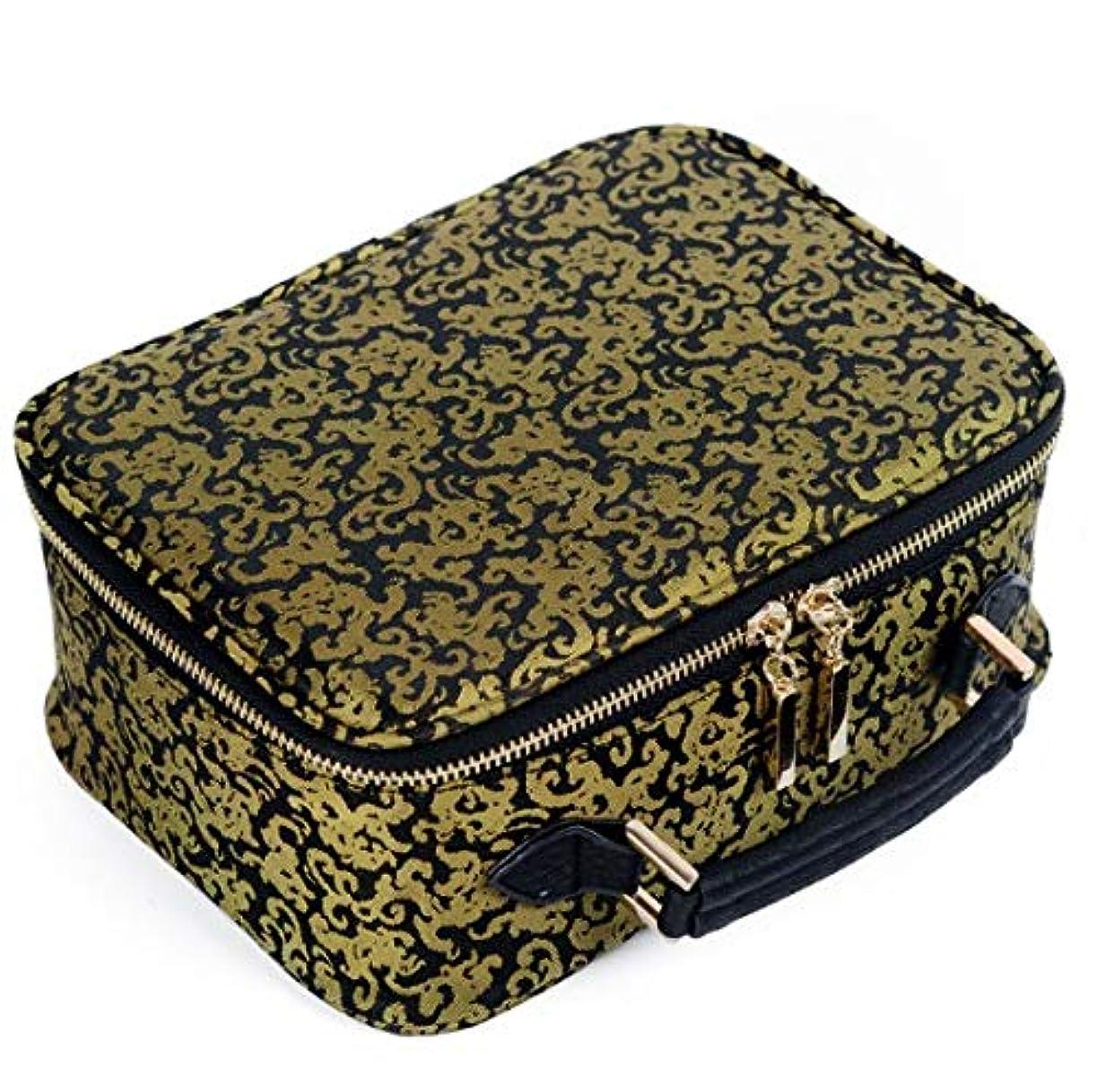 ジャングル綺麗な裏切るLYgMV 美容バッグ、ポータブルトラベルバッグ、プリントポータブル二重層羽目板化粧品バッグ収納袋防水、男性と女性のウォッシュバッグ