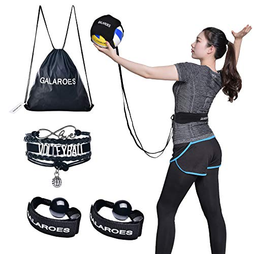 Volleyball Training Equipment Aid - Solo Practice for Serving and Arm Swings Trainer. Practice Overhand Serve, Spike, Arm Swings, Hitting. Presents for Daughter, Volleyball Players, Sister, Friend