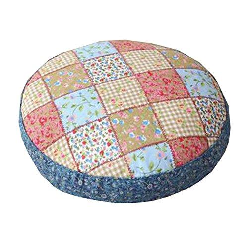 Black Temptation Coussin d'oreiller Rond de Plancher de Style Japonais Coussin de futon de Style Japonais 21,6\