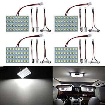 LivTee Led Panel Lights with 194 168 2825 T10 W5W / DE3175 6428 / BA9S 64111/6418 DE3423 DE3425 / 211-2 569 578 Festoon Adapters Replacement for RV Camper Car Interior Map Dome Trunk Lights White