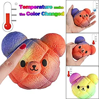 LtrottedJ Slow Rebound Toy, Temperature Color Change Slow Rising Scented Kawaii Squeeze Toy Reliever Stress