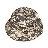 Falari Men Women Unisex Cotton Bucket Hat Small/Medium Grey Digital Camo