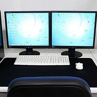 大きい マウスパッド 大型マウスパッド マウスを広く操作できる ビッグサイズ (600×300, ブラック)