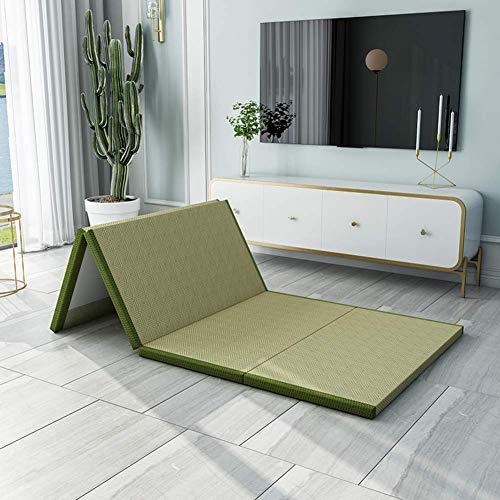 MKXF Cojín de colchón de Coco Grueso Plegable Doble Cama Doble Individual, Topper de colchón Transpirable y Agradable para la Piel