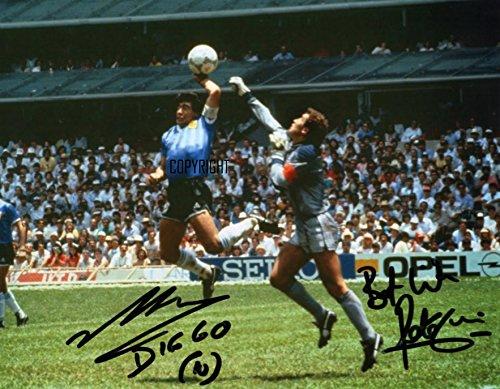 Fotodruck von Diego Maradona Peter Shillton, mit vorgedrucktem Autogramm, limitierte Edition