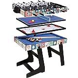 ZXQZ Mesa de Juego Combinada 4 En 1, El Regalo de Cumpleaños de Mesa Multifuncional Incluye Fútbol, Hockey sobre Hielo, Billar, Tenis de Mesa Mini mesas de Billar