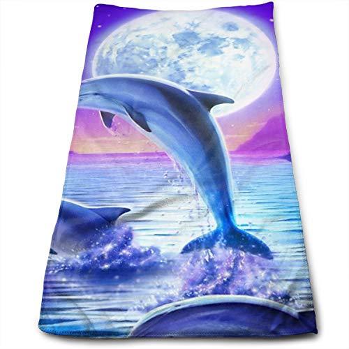 YudoHong Toallas de Mano Dolphin Jumping Soft Extra Large