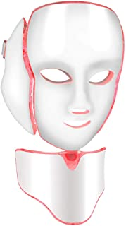Huidverjonging Photon Masker, 7 Kleuren Photon LED Masker Gezicht Hals Anti Rimpel Acne Verwijdering Huidverjonging Machin...