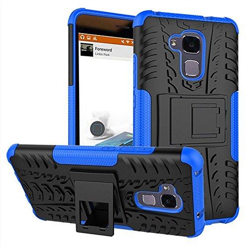 Huawei GT3 Hülle, Huawei GT3 Hülle, doppellagiger Schutz, stoßfest, Hybrid-Schutzhülle mit Ständer für 5,2 Zoll Huawei GT3 5,2 Zoll