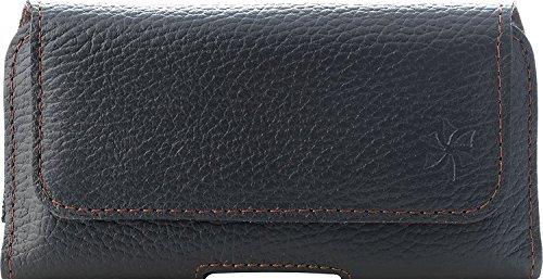 Honju Horizon Funda con Clip de Cinturon Cuero Carcasa para Smartphone - LG G5 / G5 SE / G6 / Nexus 5 / K5 / K8 / K8 (2017) - negro