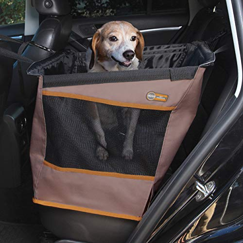 K&H PET PRODUCTS Buckle N' Go Dog Car Seat for Pets, Tan, Small (21' x 13' x 19')