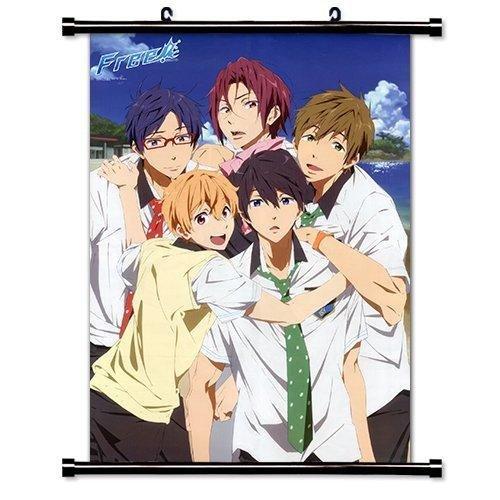 1 X Free! Iwatobi Swim Club Anime Fabric Wall Scroll Poster (16' x 23') Inches