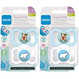 MAM SkinSoft Silikon Dental Schnuller Supreme, 4er...