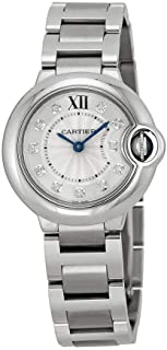 Cartier Ballon Bleu Silver Diamond Dial Stainless Steel Ladies Watch WE902073