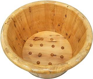 ERHANG Wooden Barrels Pedicure Basin Foot Massage Foot Bath Barrel Foot Tub Wood 21cm High Cedar Wood Wash Basin Middle-Aged and Elderly Health Care Gift