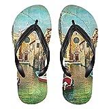 Mnsruu Hermosas sandalias Venecia con diseño de paisaje urbano para el hogar, para el hotel, spa, dormitorio, viajes, L para hombres y mujeres