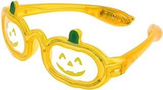 TOOGOO Halloween Pumpkin Flashing Sunglasses LED Halloween Eye Glasses Party Favors Supplies Decoration Pumpkin Led Light Up Eyeglasses